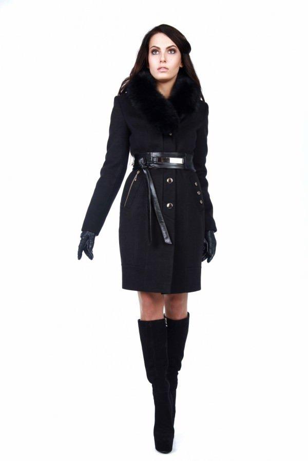 Купить женское пальто с мехом