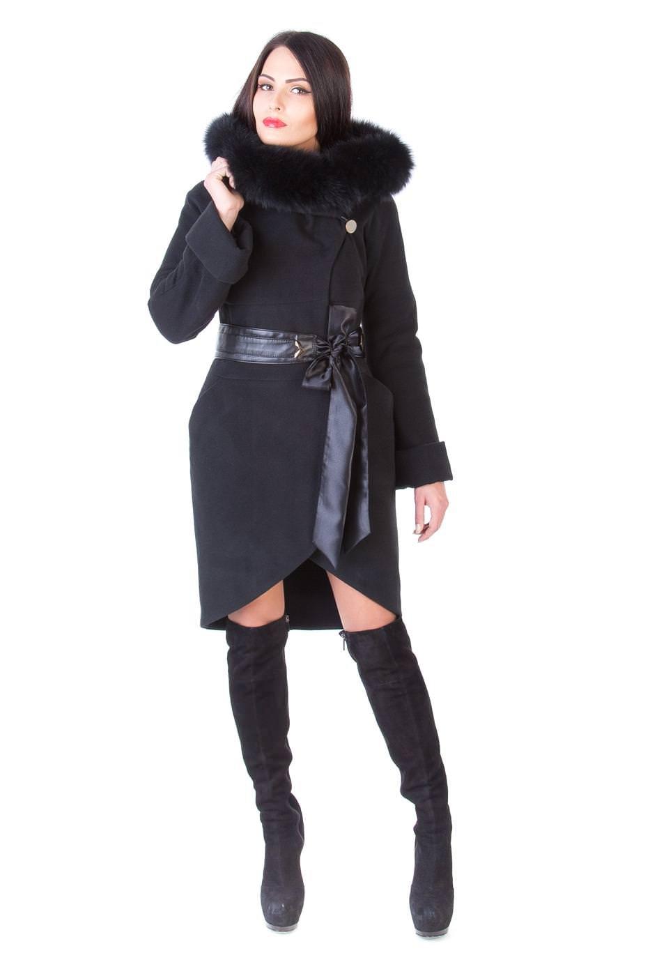 Купить оптом женское пальто недорого Пальто с мехом Буэно