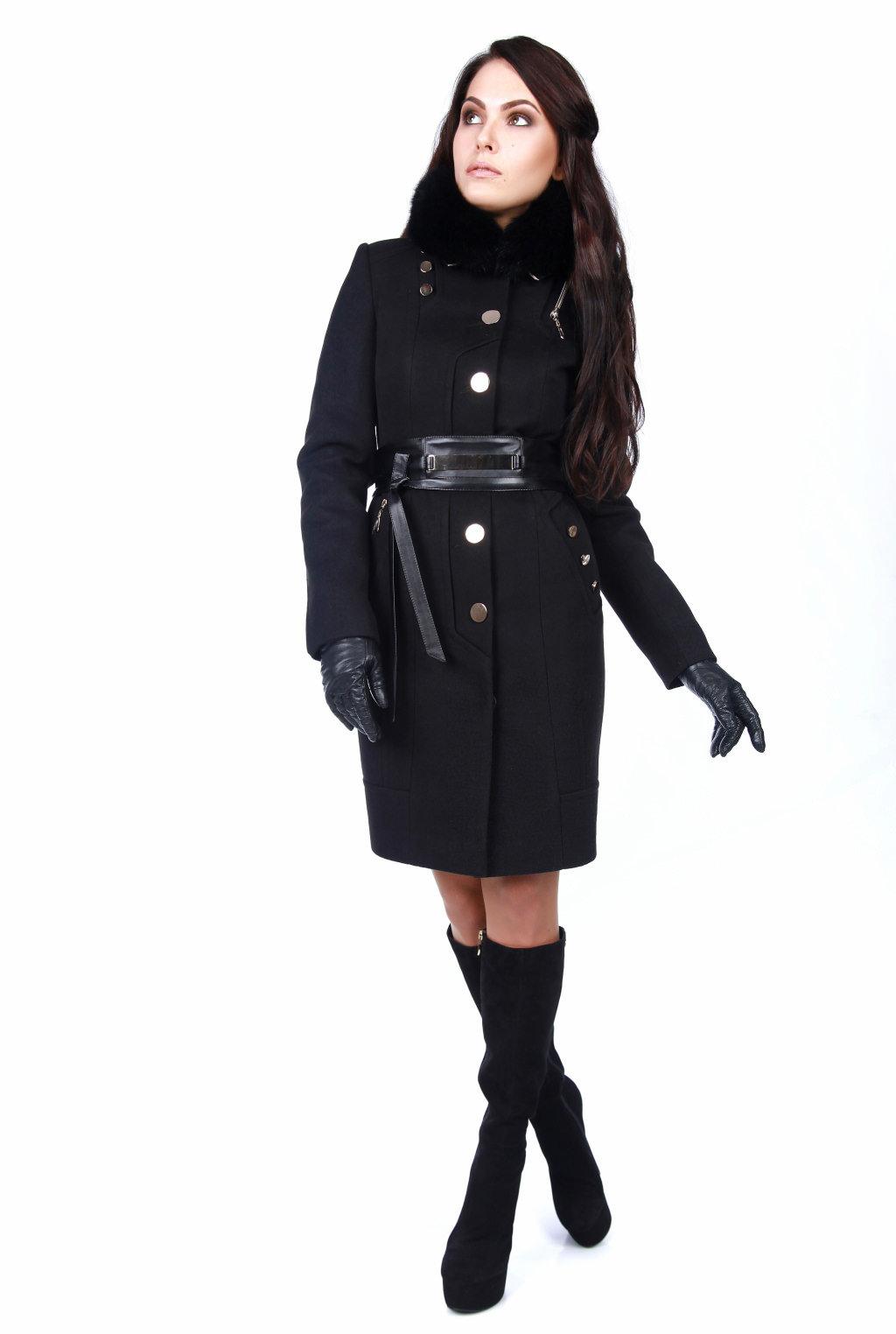 Женская одежда оптом от производителя Modus Пальто с мехом Айсберг комфорт