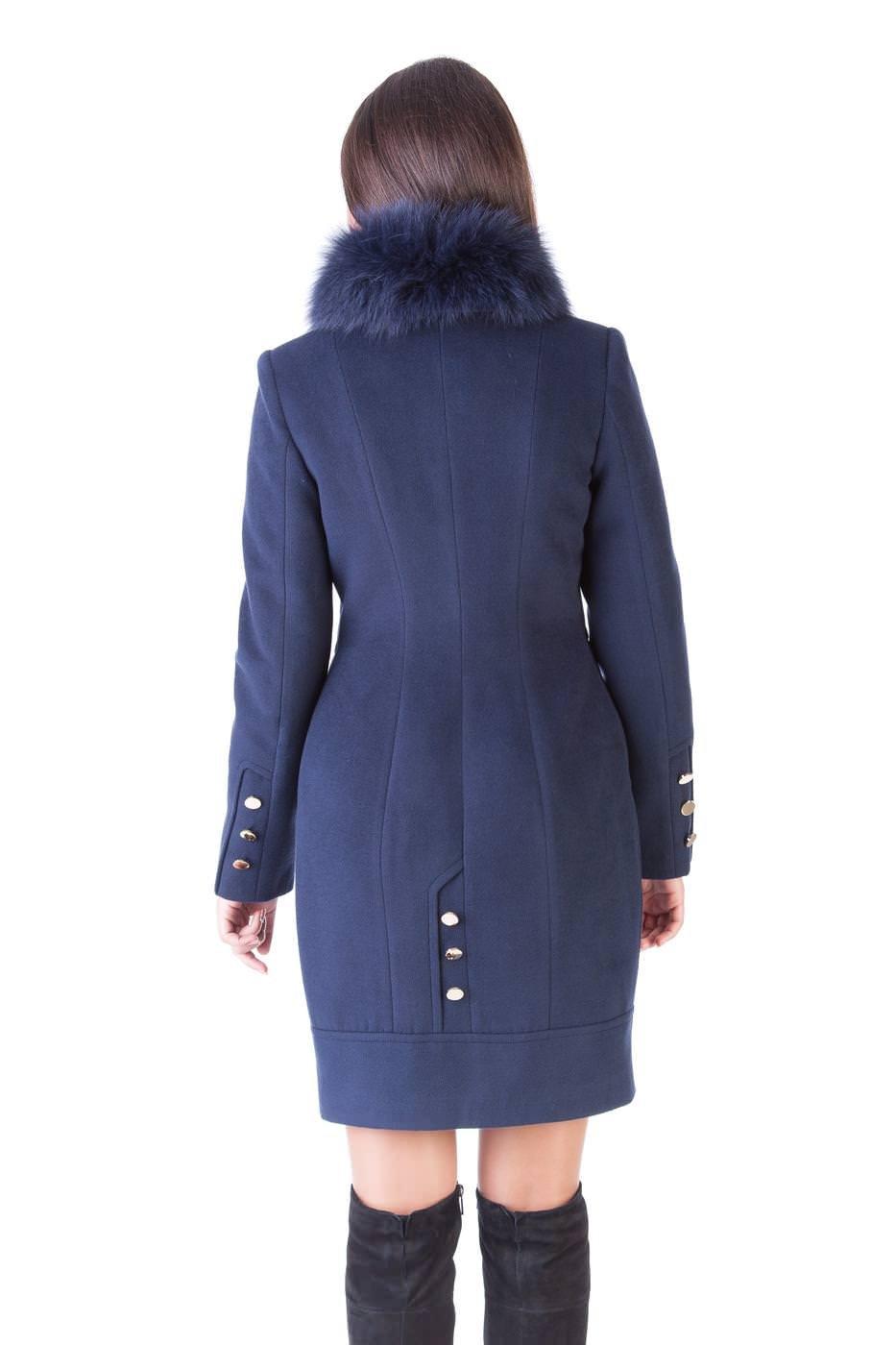 Пальто кашемир с мехом