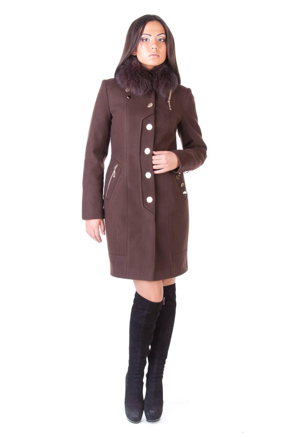 Купить оптом женское пальто недорого Пальто с мехом Айсберг комфорт