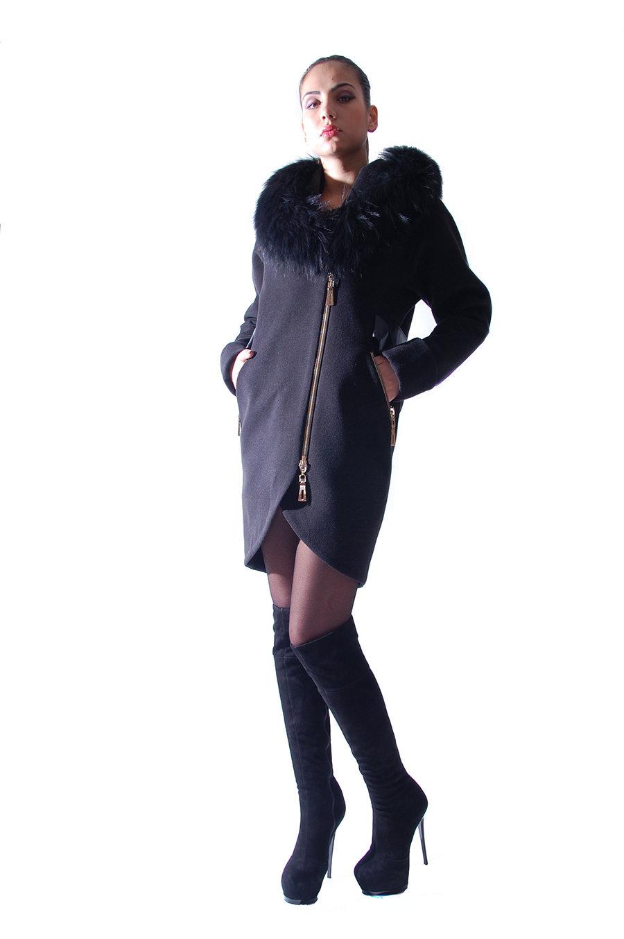 Женское пальто оптом от производителя Modus Пальто Бьорк енот