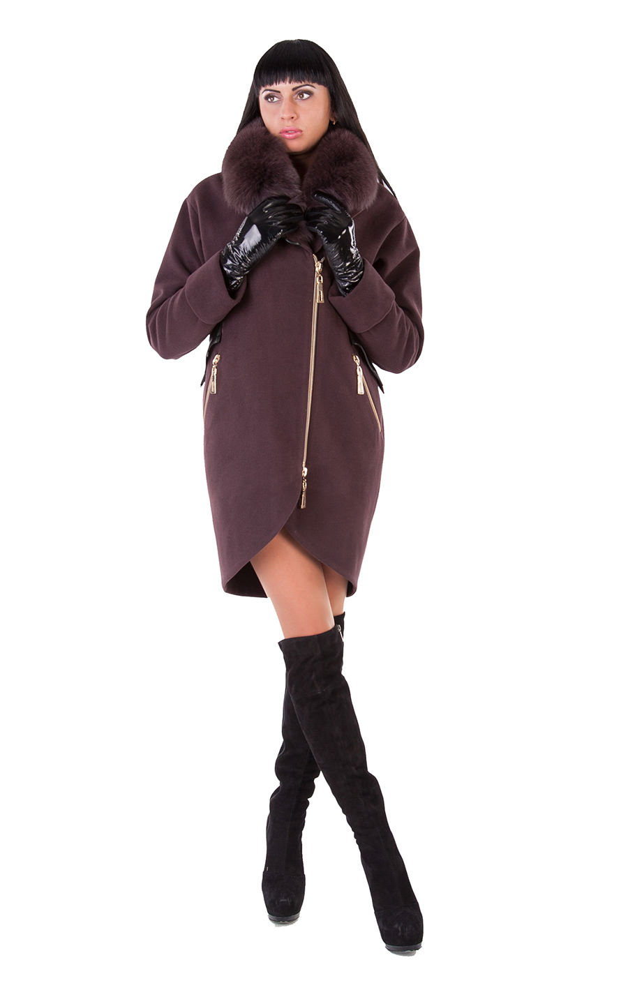 Женская одежда оптом от производителя Modus Пальто Бьорк енот