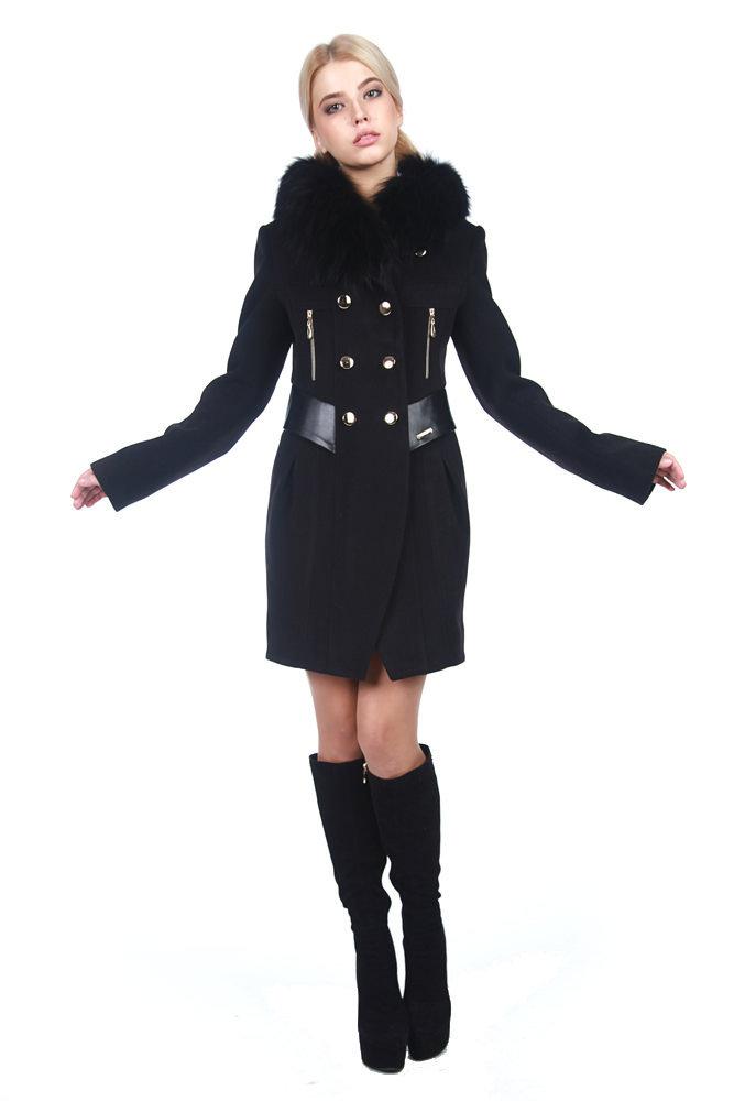 Купить оптом женское пальто недорого Пальто Абсент мех зима