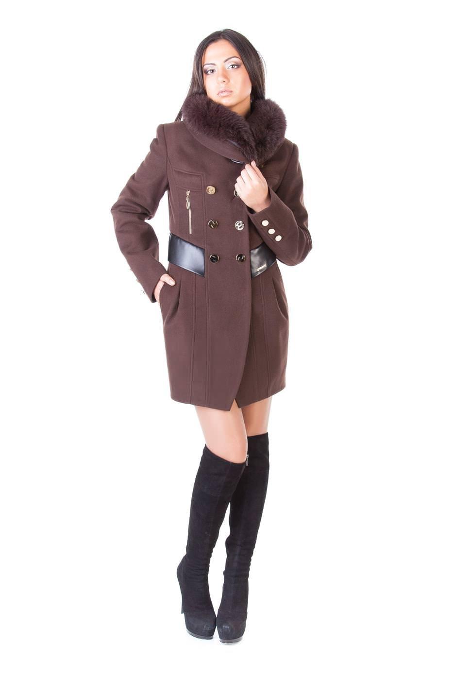 Пальто оптом от производителя Modus Пальто Абсент мех зима