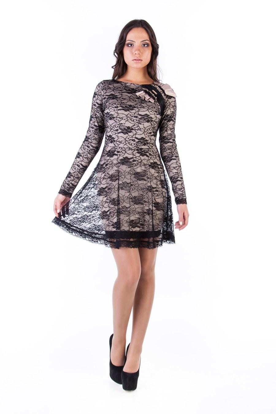 Платья трикотажные оптом от производителя Платье Керри