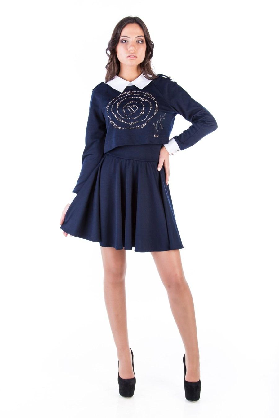 Купить платья оптом от производителя Платье Костюм Дина трансфер