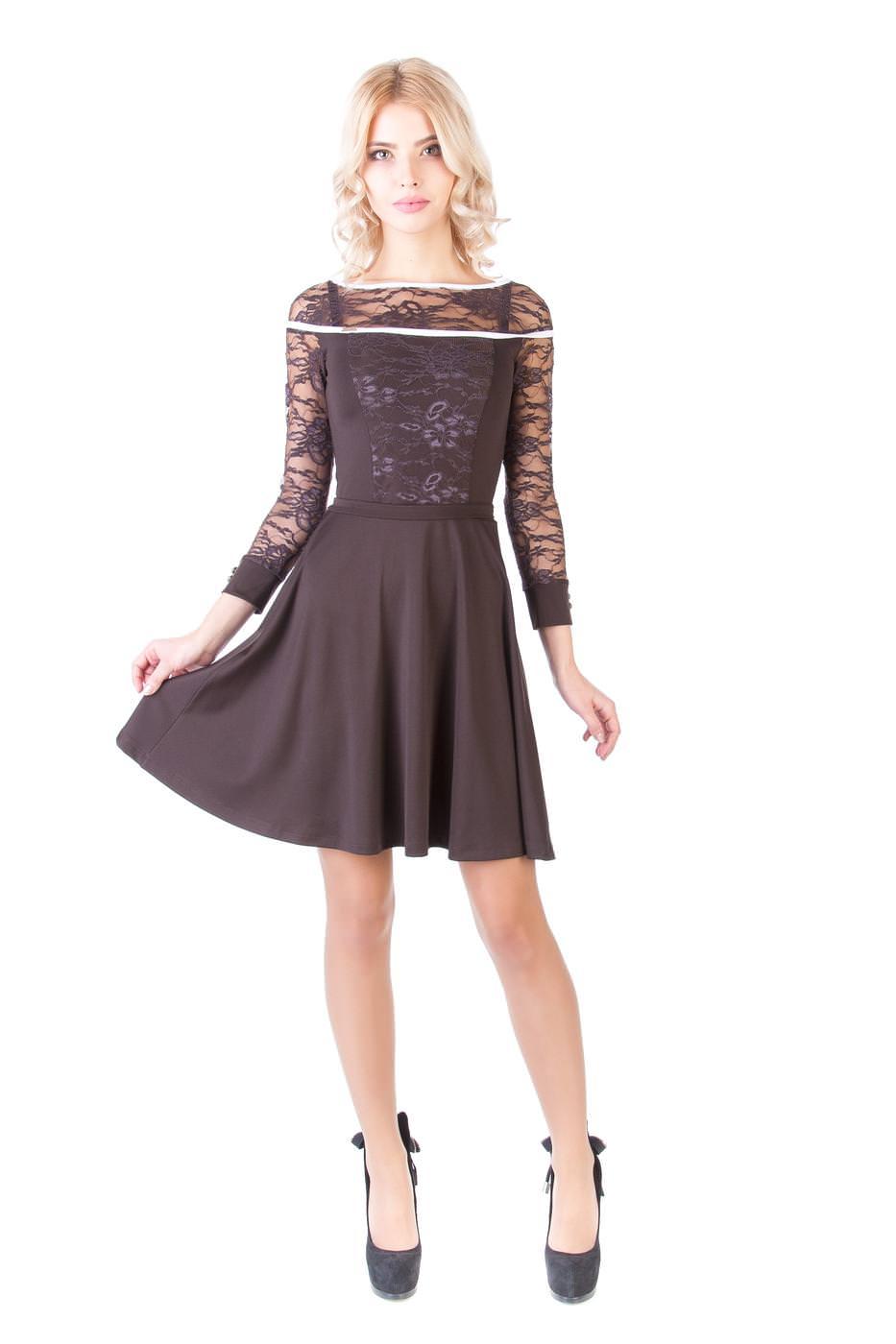 Платья трикотажные оптом от производителя Платье Аркада