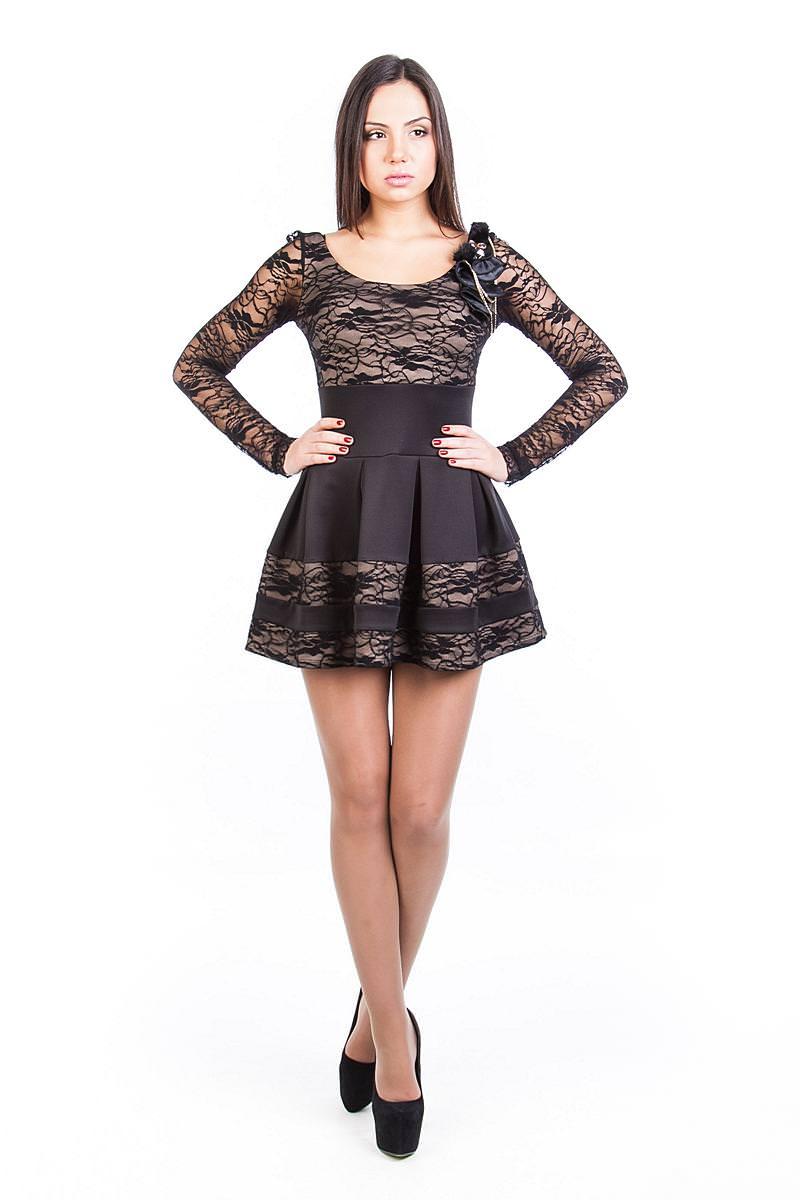 Платья трикотажные оптом от производителя Платье Николь