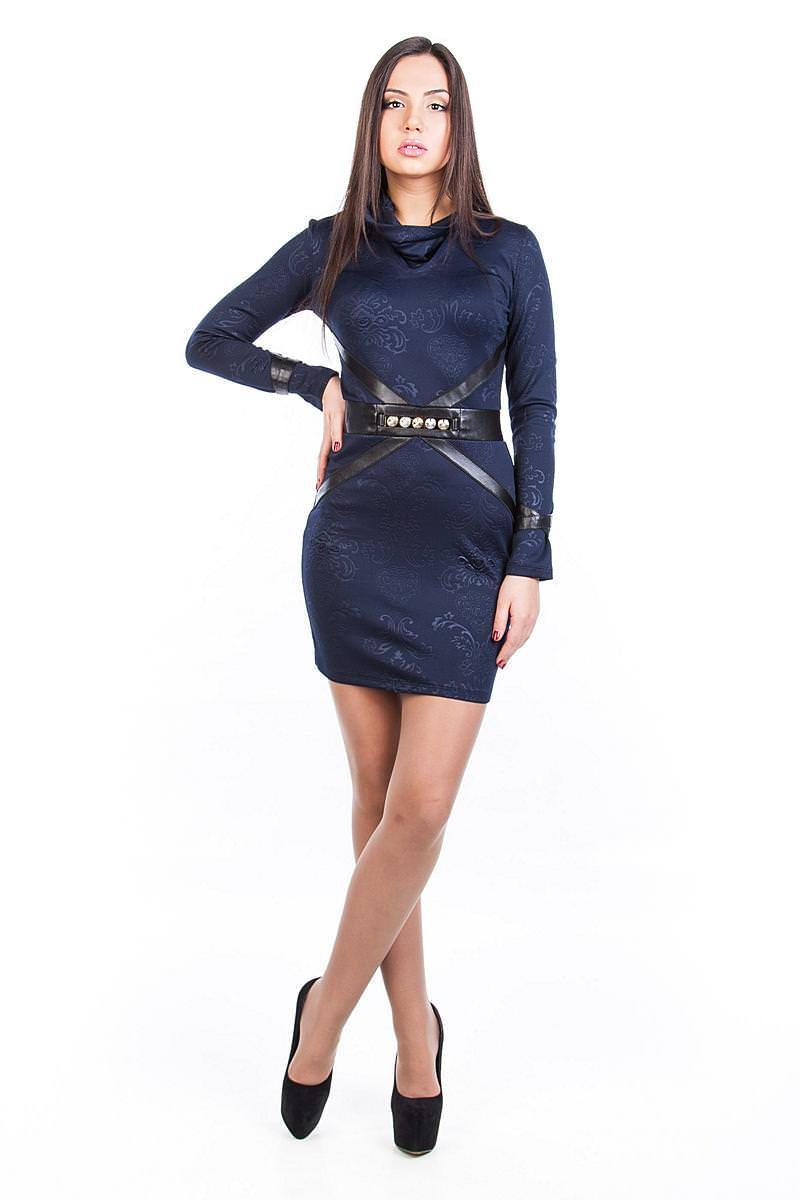 Платья трикотажные оптом от производителя Платье Соната-хомут