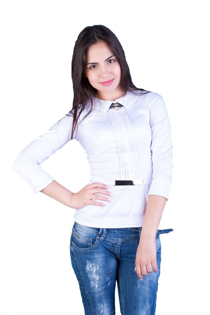 Школьные блузы оптом от производителя Блуза Марта