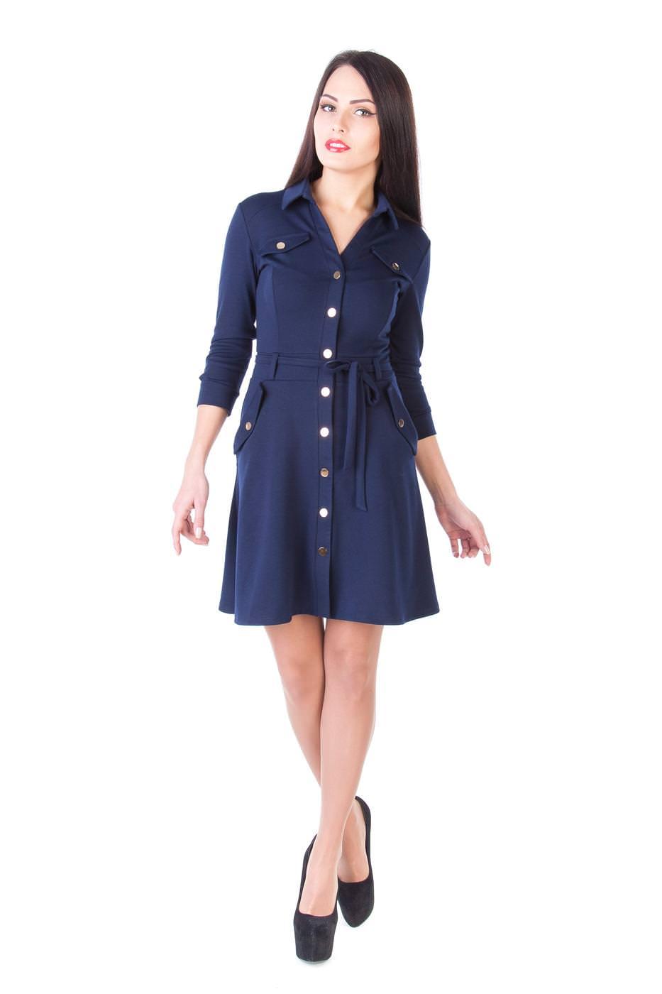 Платья трикотажные оптом от производителя Платье Лока