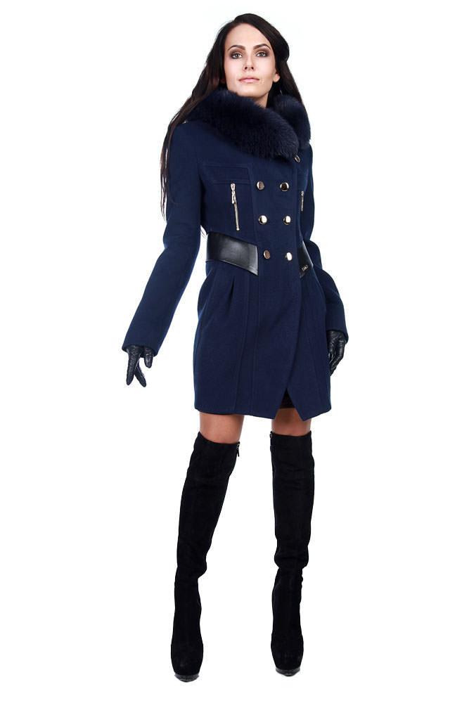 Купить кашемировое пальто оптом от производителя Пальто Абсент мех зима