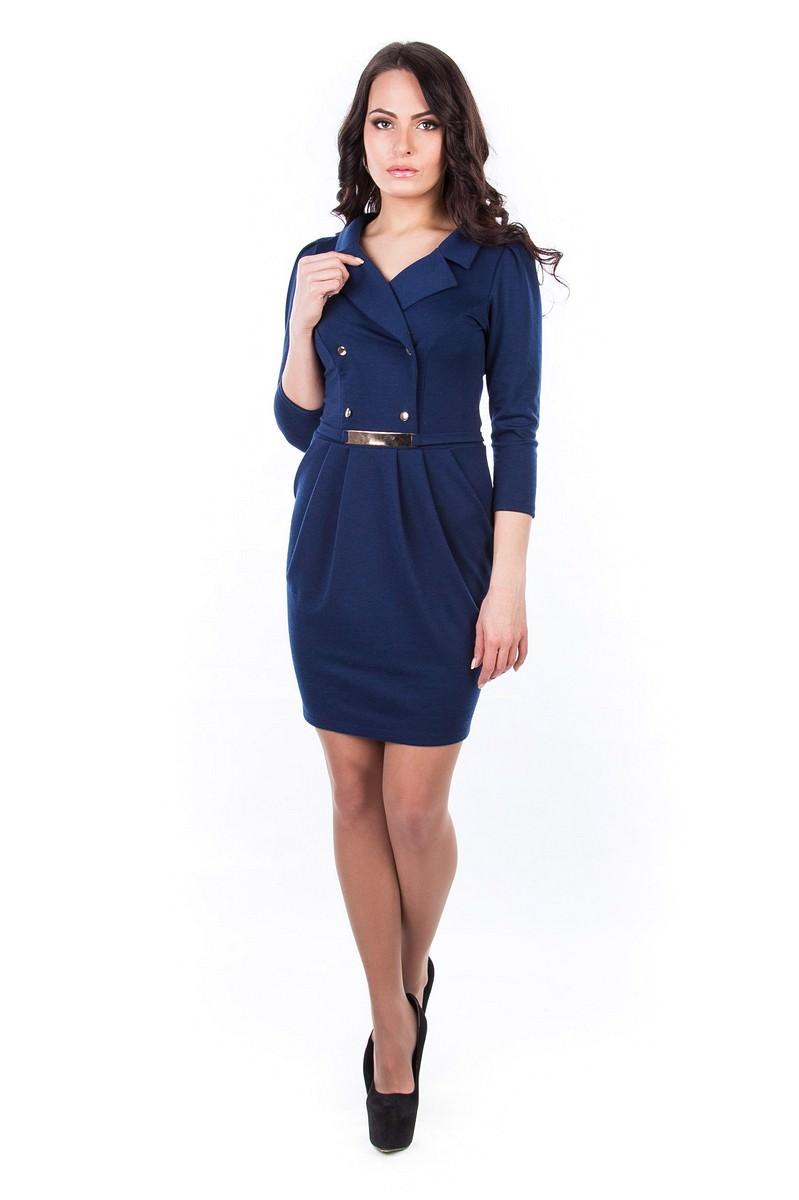 Платья трикотажные оптом от производителя Платье Стайл
