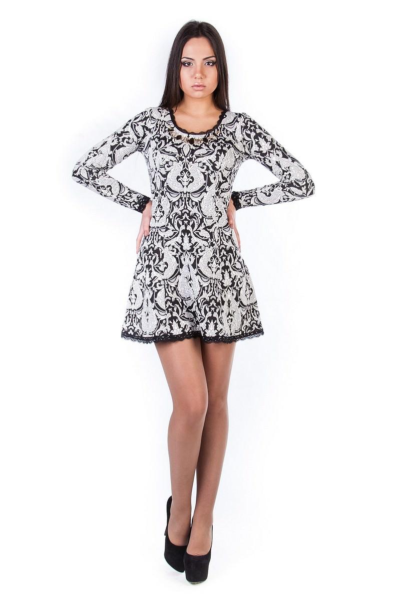 Платья трикотажные оптом от производителя Платье Мери жаккард