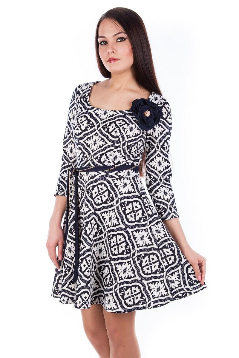 Платья трикотажные оптом от производителя Платье Мелодия
