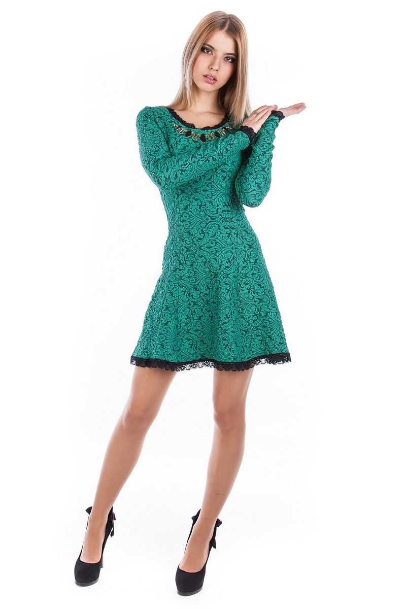 Платья трикотажные оптом от производителя Платье Мери жаккард Дамаск