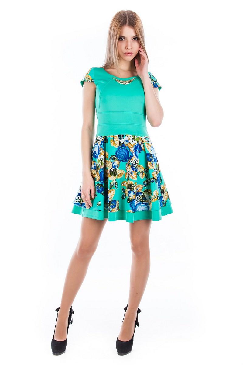 Платья трикотажные оптом от производителя Платье Мика