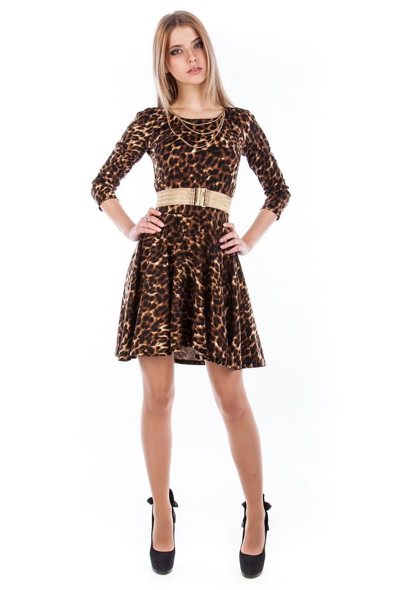 Купить платья оптом от производителя Платье Фенди 3/4 лео