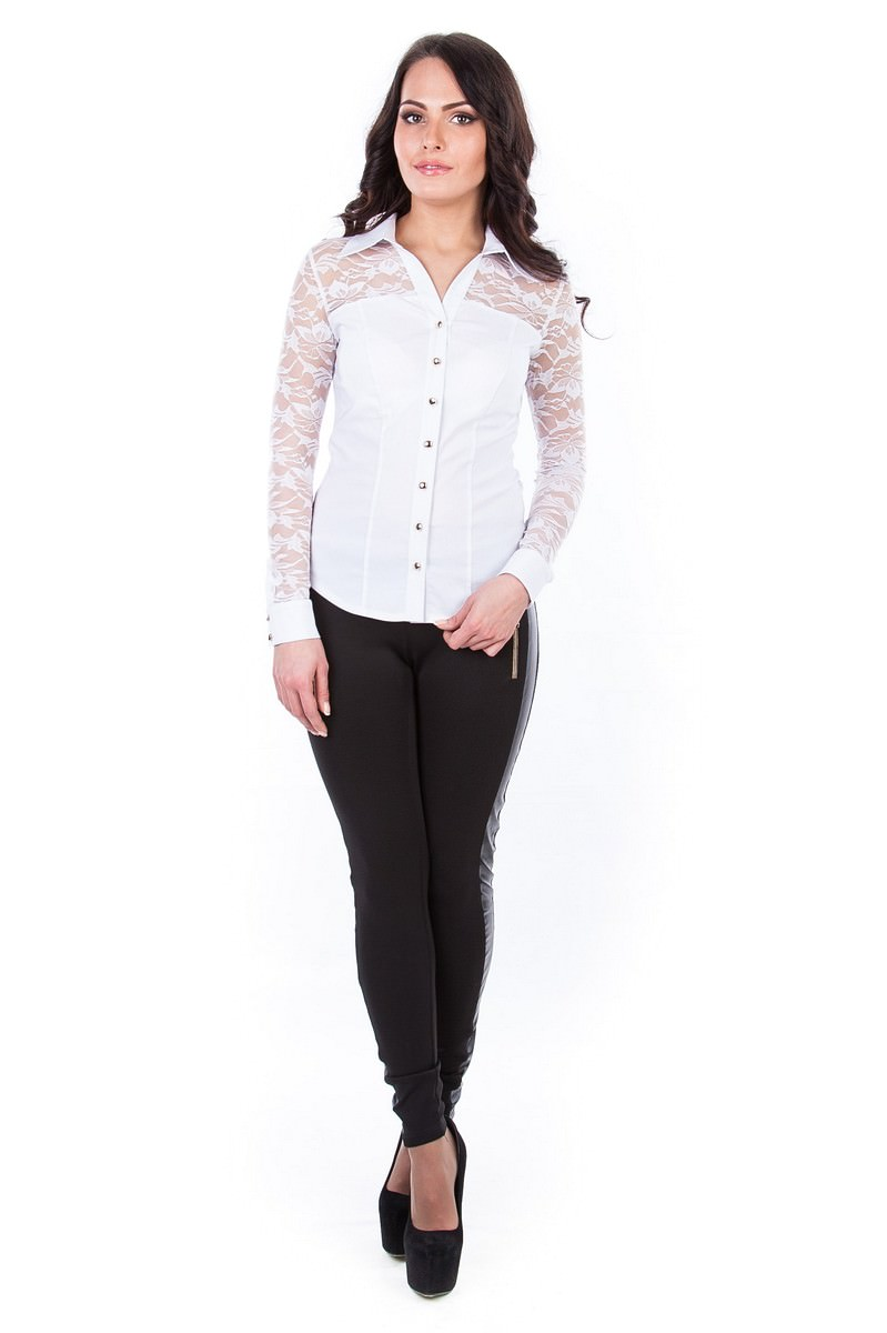 Белые блузки оптом от MODUS Блуза Белис