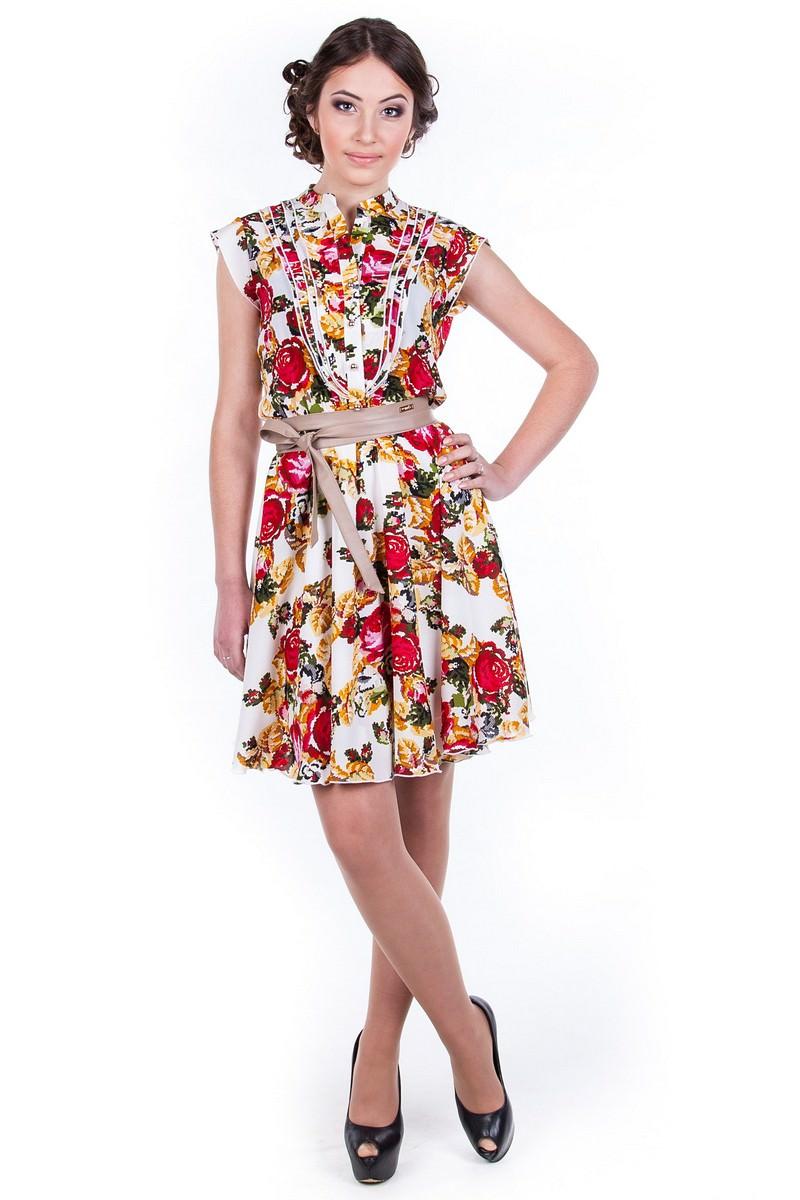 Оптом платье недорого от Modus Платье Лоя вышивка принт