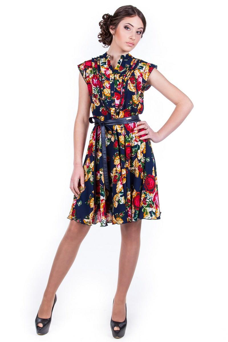 Женские платья оптом от Modus Платье Лоя вышивка принт