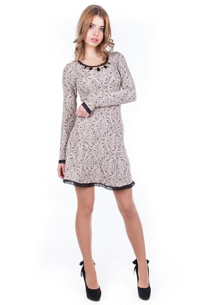 Купить платья оптом от производителя Платье Мери жаккард Дамаск