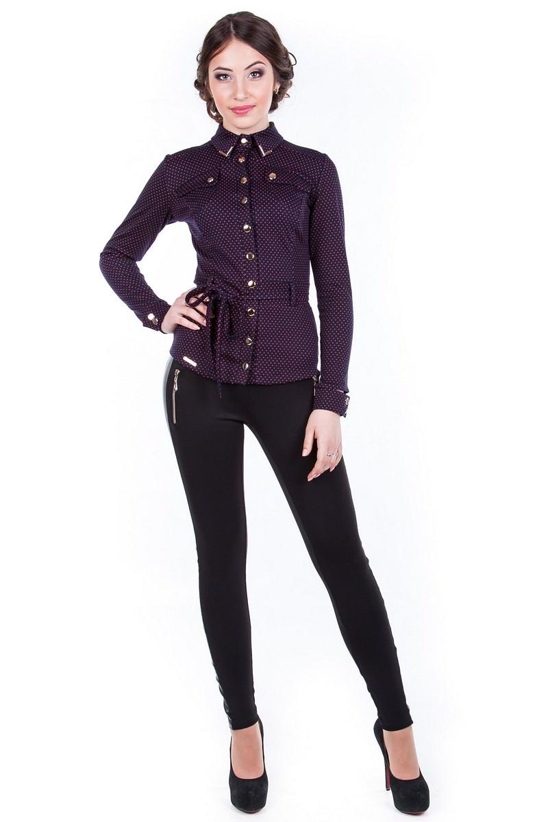 Школьные блузы оптом от производителя Блуза Пэнни горох