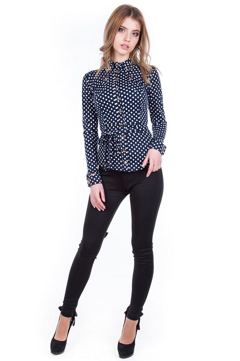 Оптом офисные блузы Modus Блуза Пэнни горох