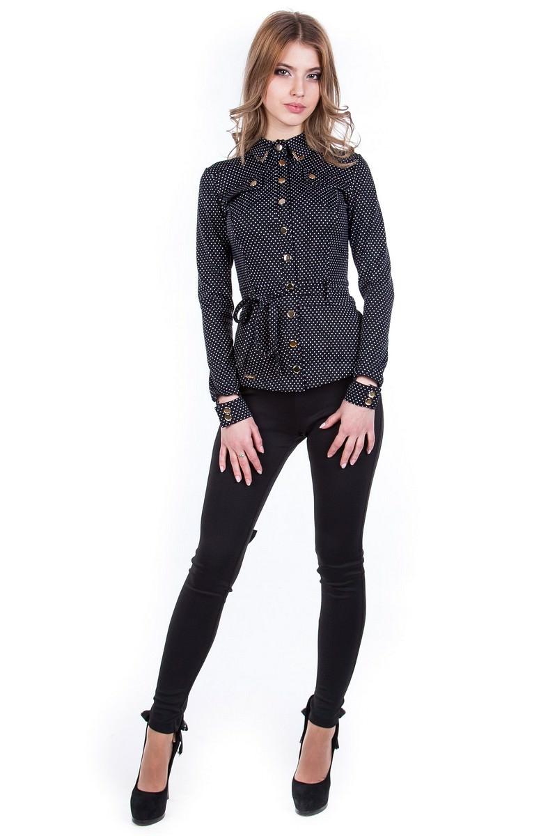 Женские блузки оптом от производителя Блуза Пэнни горох