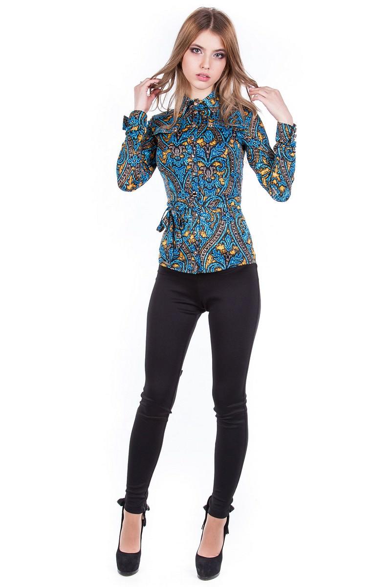 Женские блузки оптом от производителя Блуза  Пэнни принт