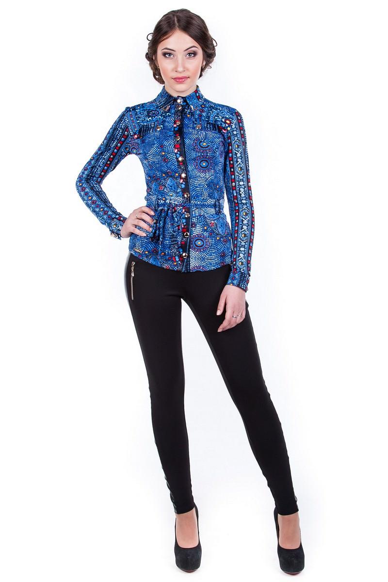 Оптом офисные блузы Modus Блуза  Пэнни принт