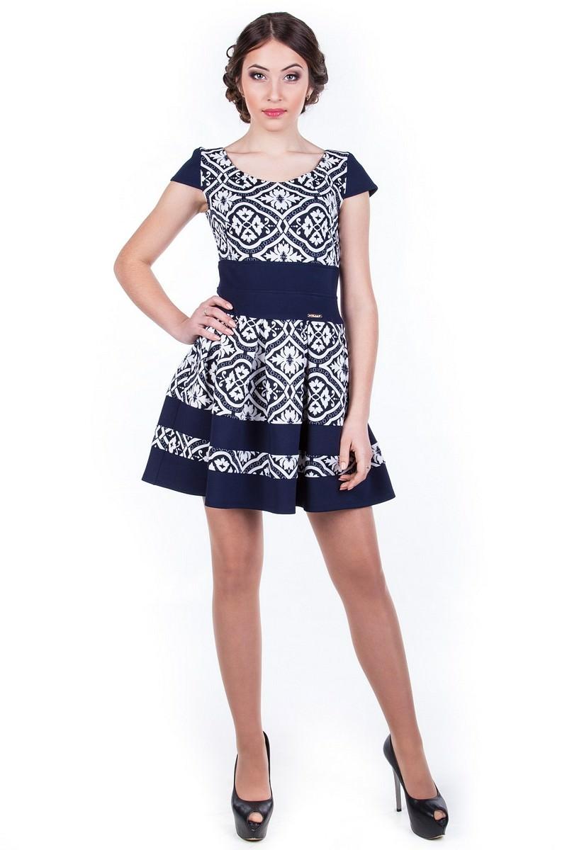 Оптовый интернет-магазин платьев Modus Платье Синди принт