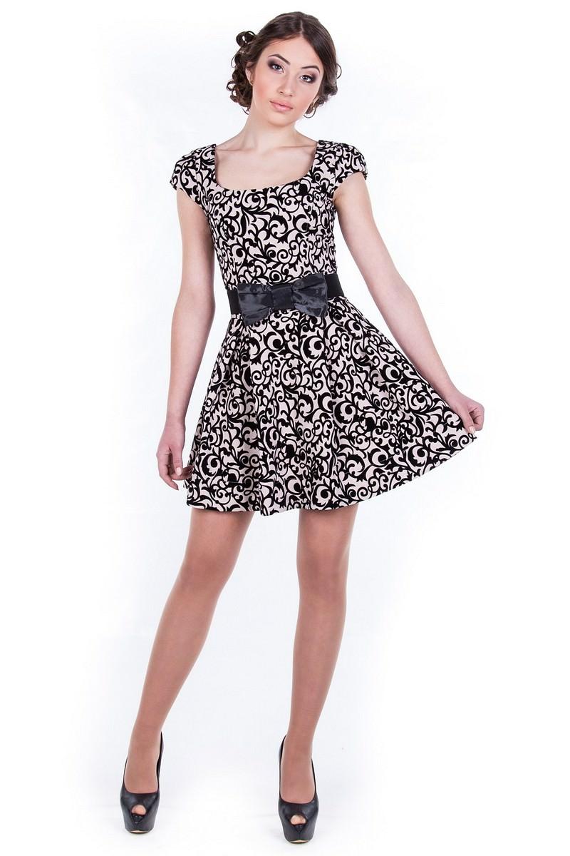 Платья трикотажные оптом от производителя Платье Фелличита