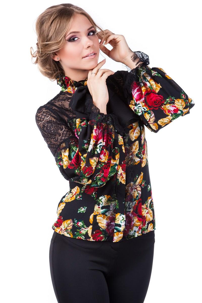 Школьные блузы оптом от производителя Блуза Версаче