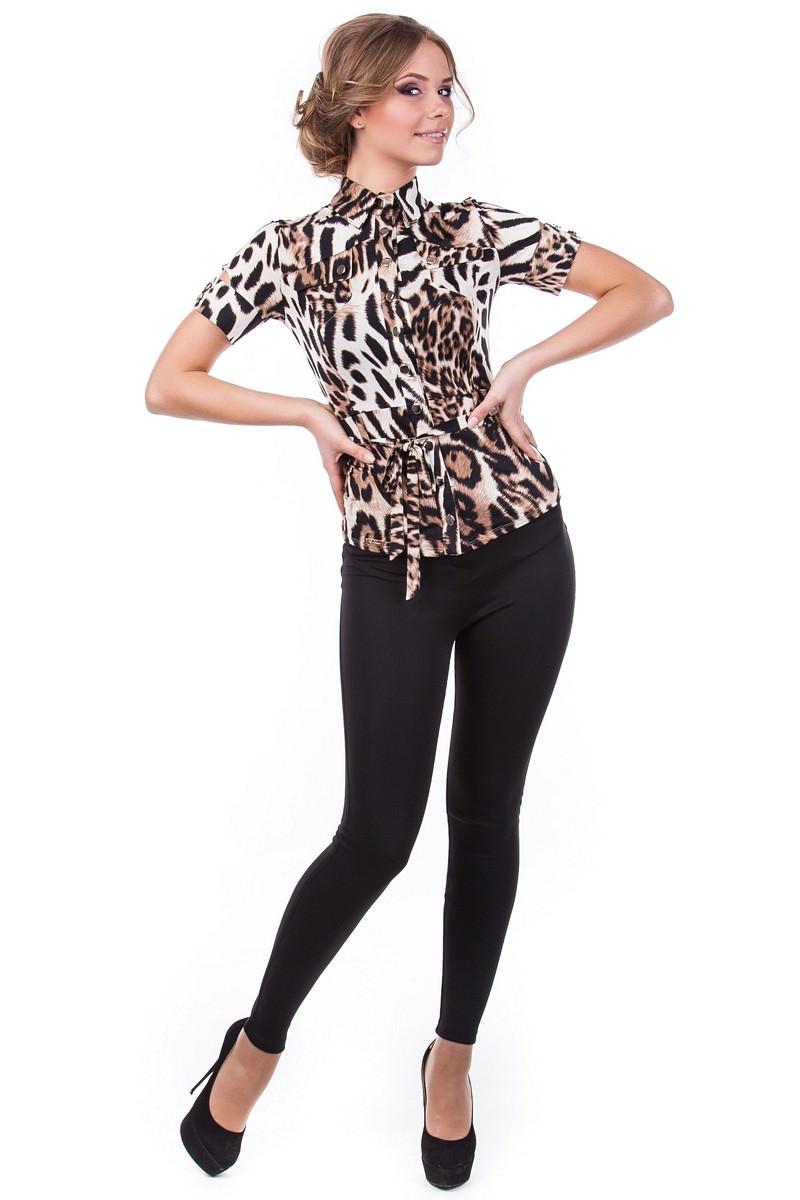 Блузки оптом от производителя Modus Блуза Пэнни короткий рукав