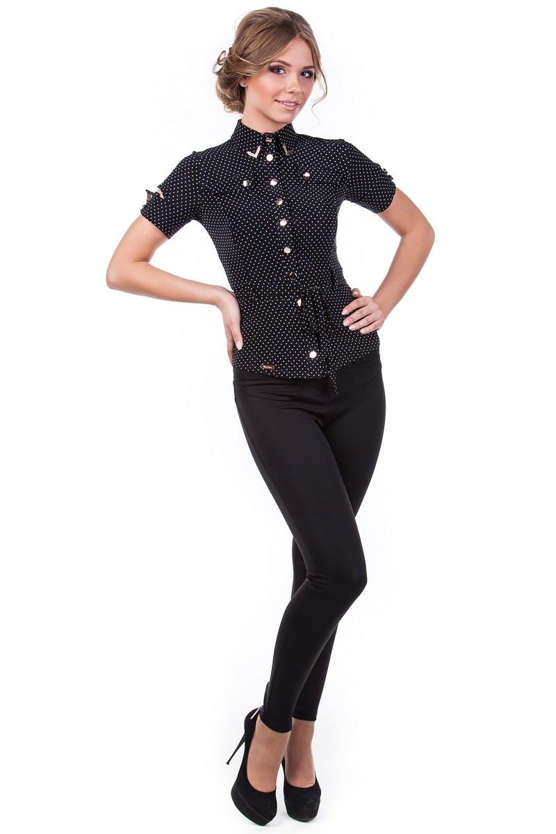 Школьные блузы оптом от производителя Блуза Пэнни короткий рукав DG
