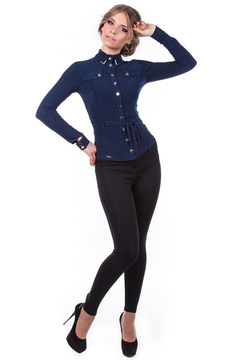 Школьные блузы оптом от производителя Блуза Пэнни длинный рукав