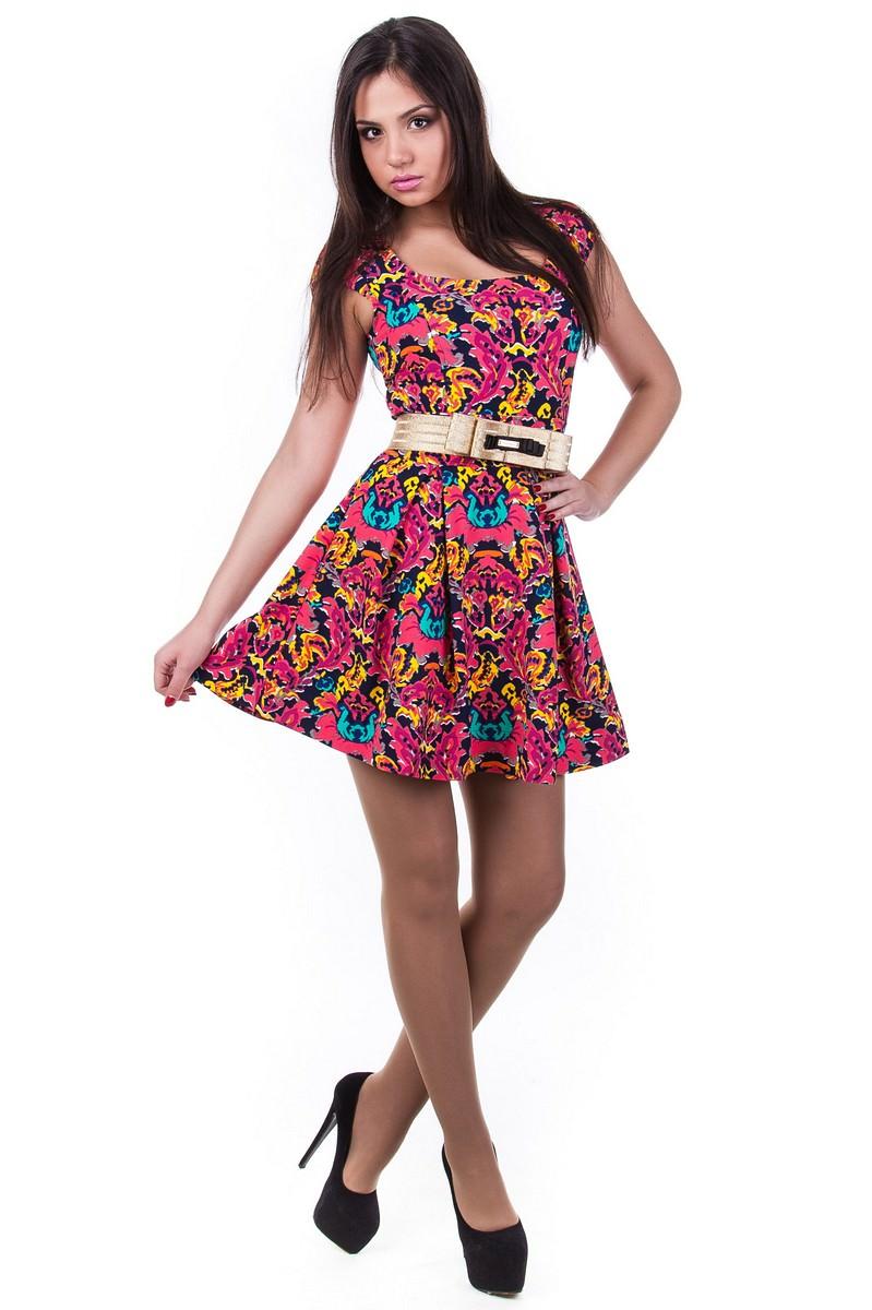 Оптом платья трикотаж Платье Фелличита