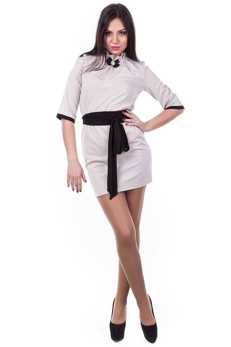 Платья трикотажные оптом от производителя Платье Элегия кукуруза