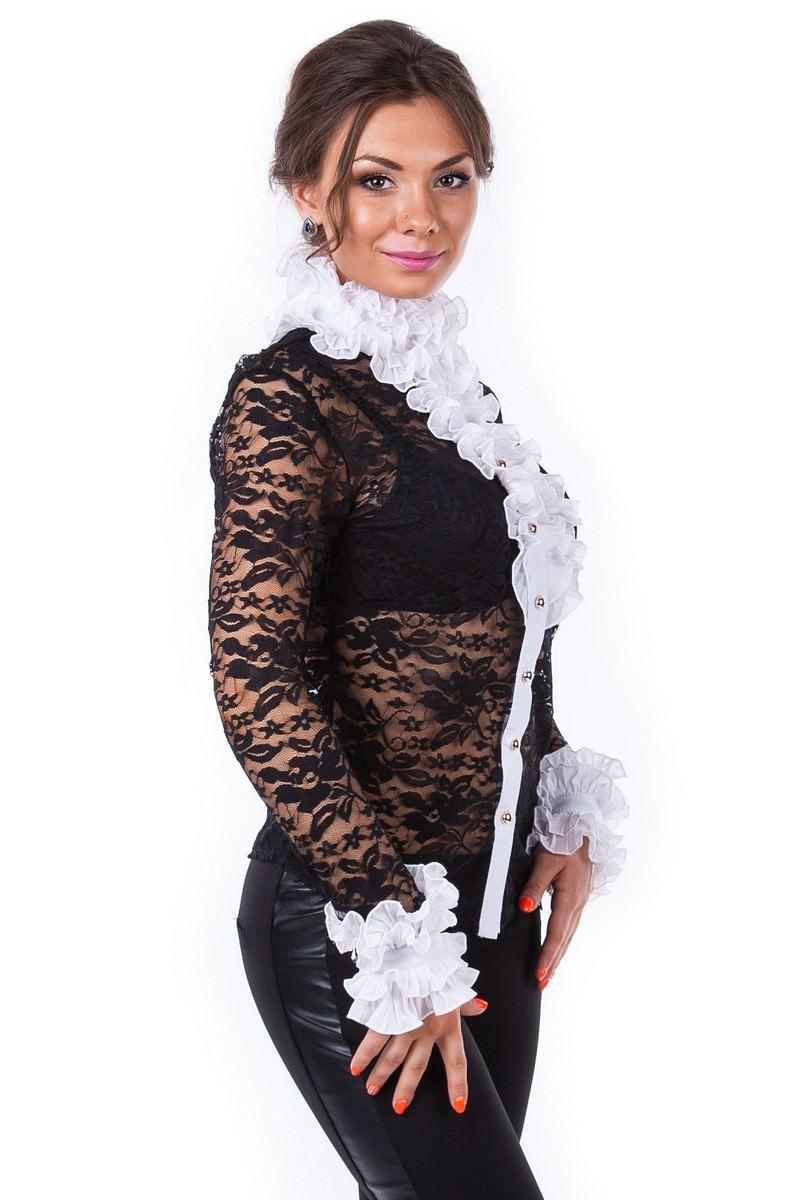 Блуза Абель 2205 АРТ. 722 Цвет: Черно-белый - фото 3, интернет магазин tm-modus.ru