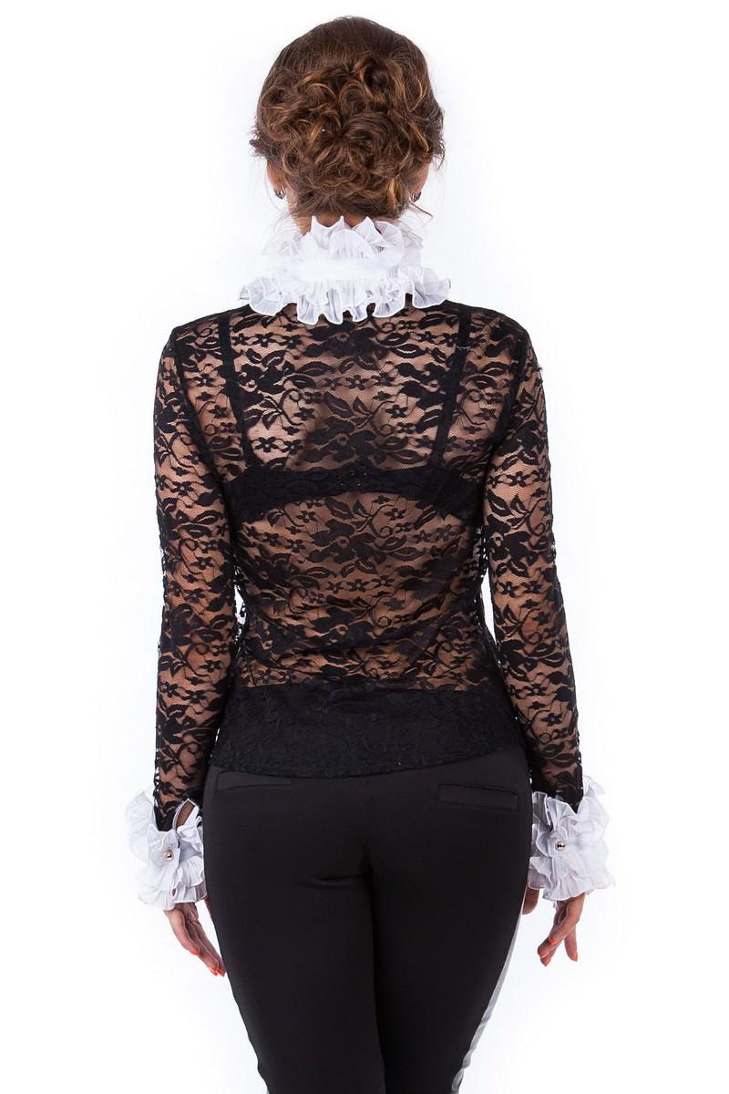 Блуза Абель 2205 АРТ. 722 Цвет: Черно-белый - фото 4, интернет магазин tm-modus.ru