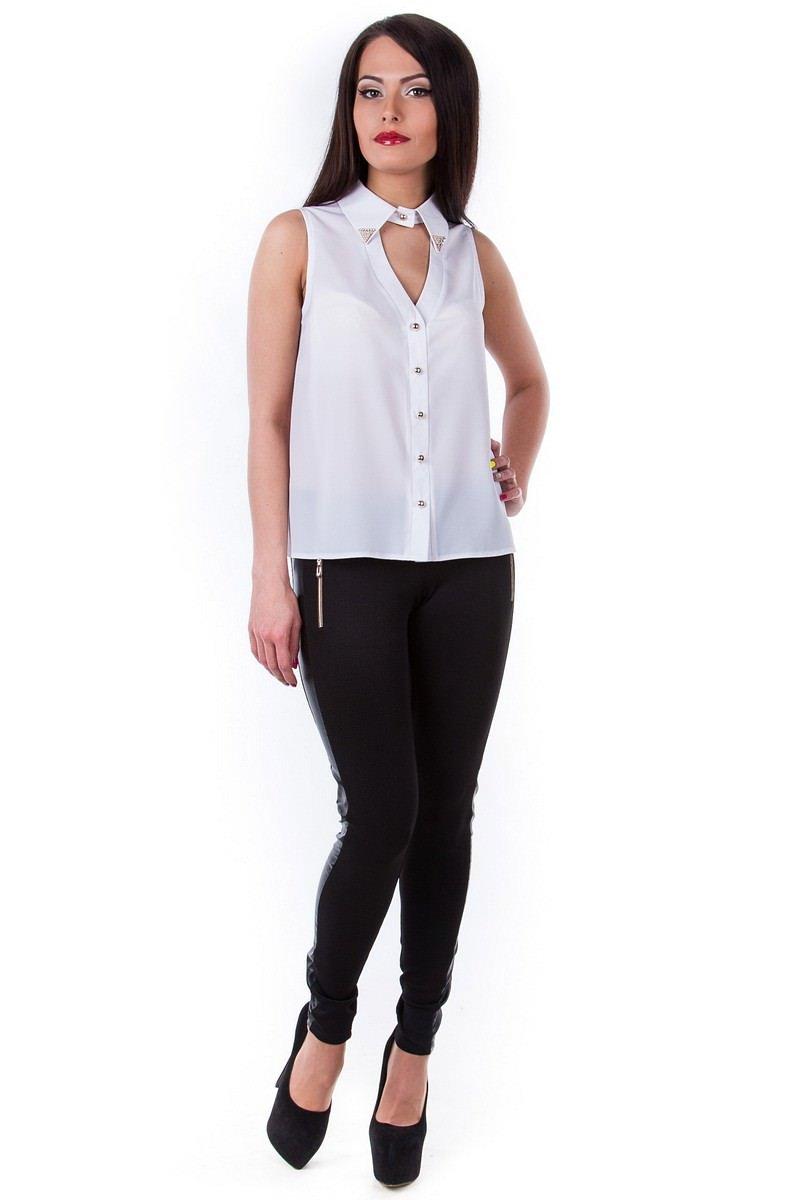 Белые блузки оптом от MODUS Блуза Арри