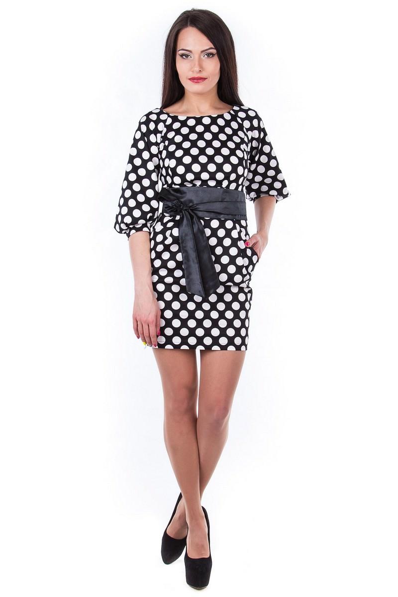 Женские платья оптом от Modus Платье Дефиле принт