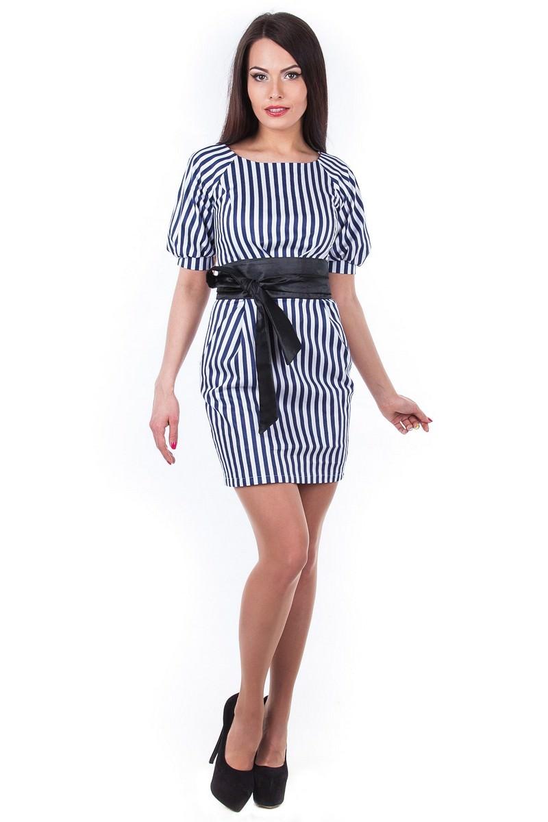 Платья трикотажные оптом от производителя Платье Дефиле принт