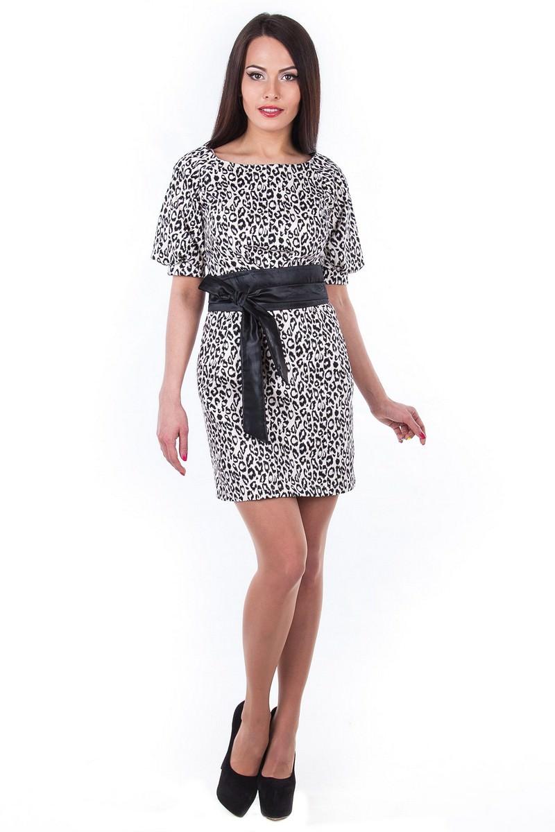 Купить платья оптом от производителя Платье Дефиле принт
