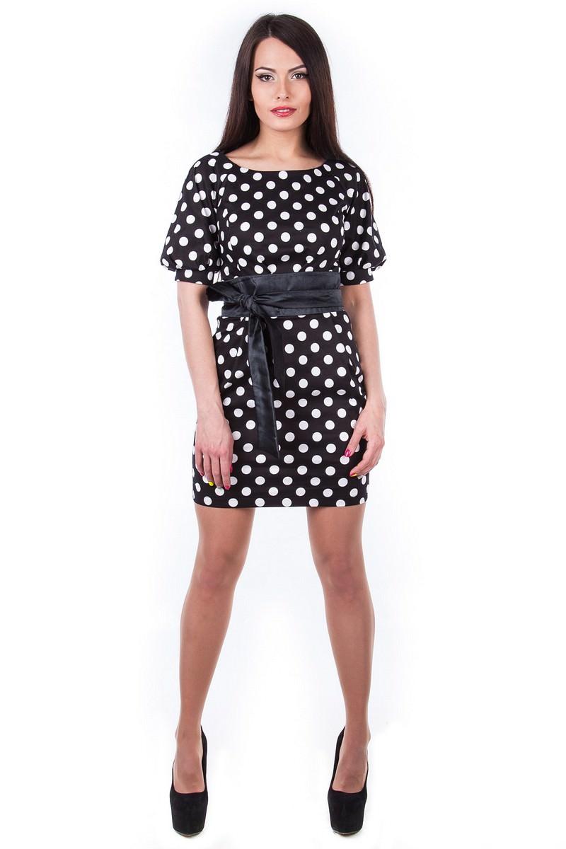 Оптовый интернет-магазин платьев Modus Платье Дефиле принт
