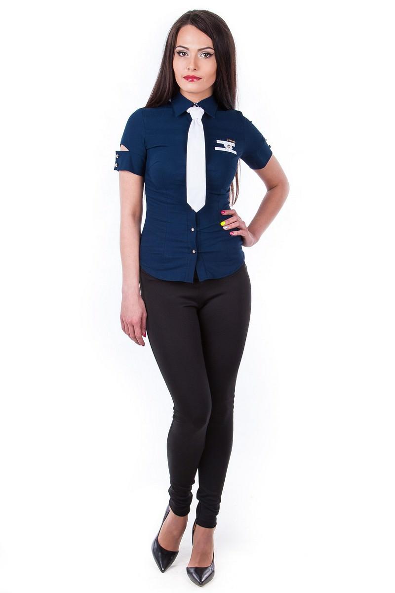 Школьные блузы оптом от производителя Блуза Кесси короткий рукав