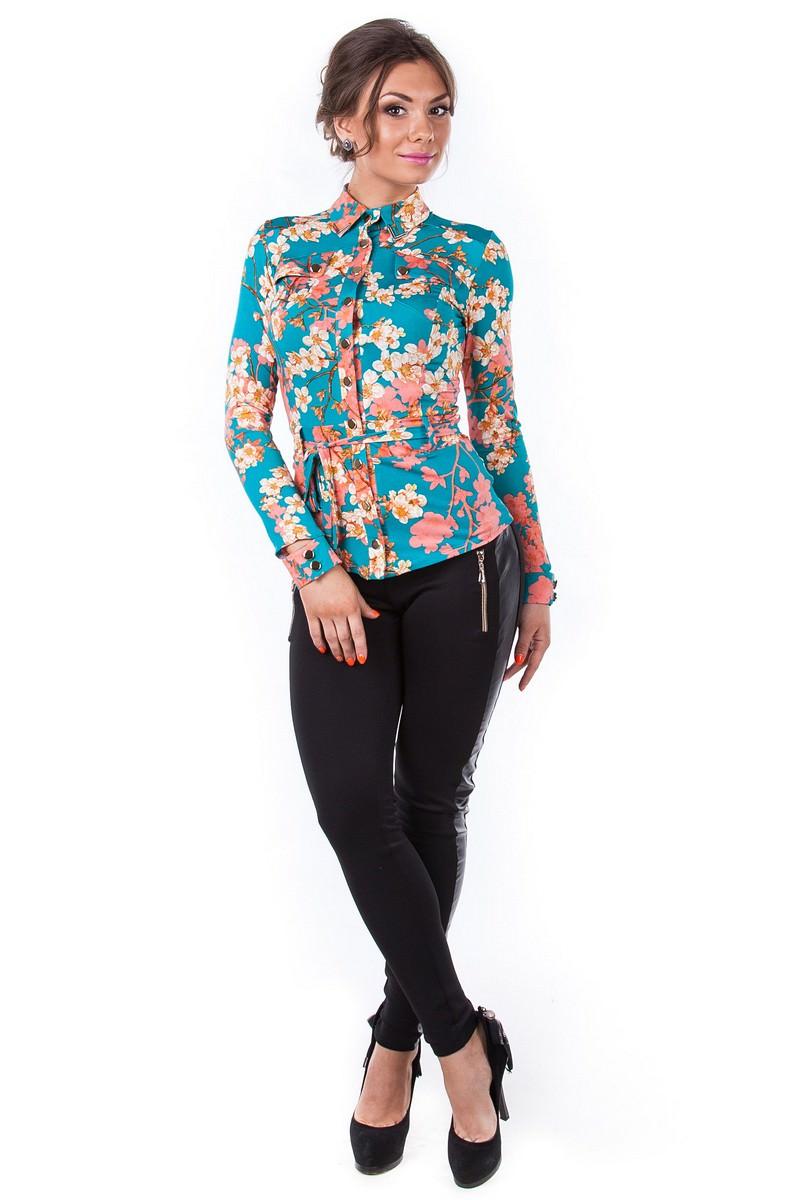 Женские блузки оптом от производителя Блуза Пэнни длинный рукав
