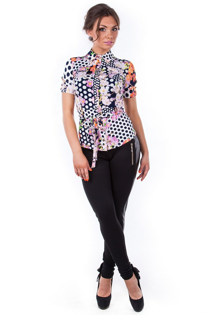 Женские блузки оптом от производителя Блуза Пэнни короткий рукав